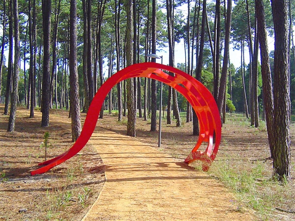 Sculpture artistique en fibre de verre