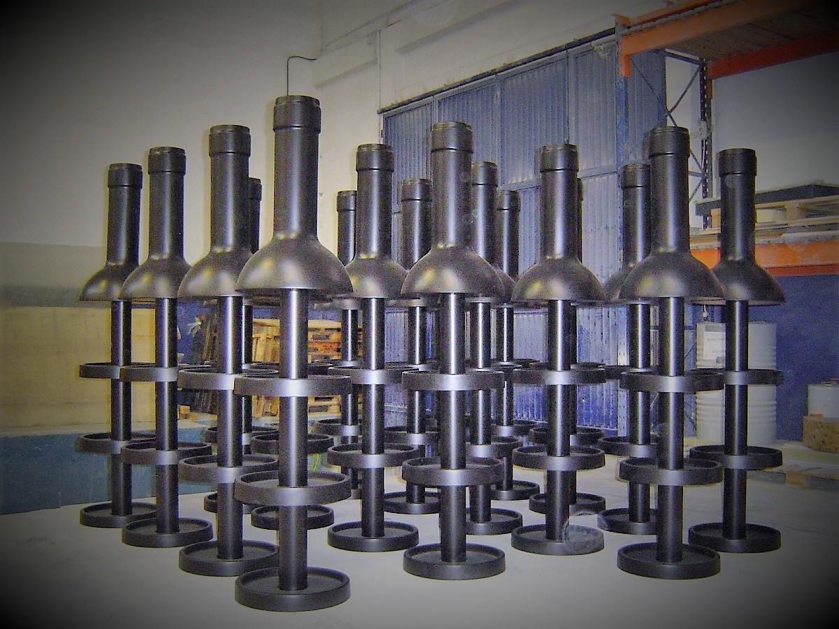 Présentoir de bouteilles de vin