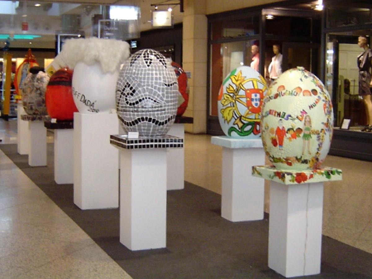 Oeufs de Pâques peints